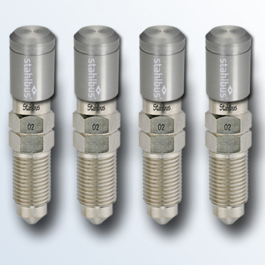 4-piece set stahlbus Bleeder valve M10x1.0x20mm (L), steel with natural dust cap