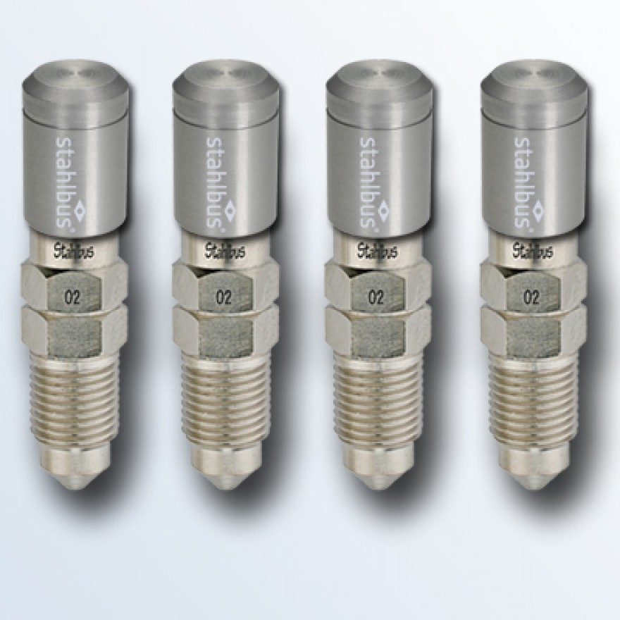 4-piece set stahlbus Bleeder valve M10x1.0x16mm (M), steel with natural dust cap