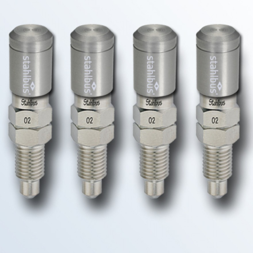 4-piece set stahlbus Bleeder valve M8x1.0x16mm, steel with natural coloured dust cap