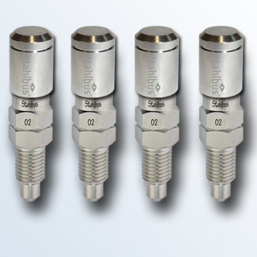 4-piece set stahlbus Bleeder valve M8x1.0x16mm, steel with nickel plated dust cap