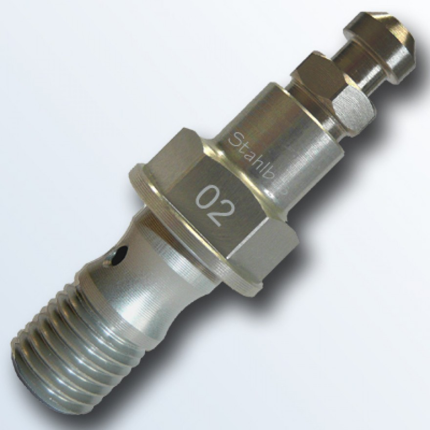 stahlbus Banjo Bolt with Bleeder Valve M10x1.25x19mm, Alu natural