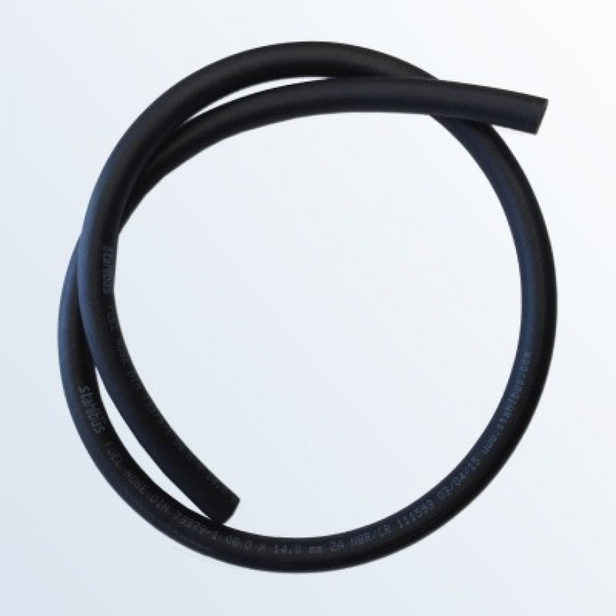 Fuel hose NBR/CR Ø 8 (0.315 inch) x 14mm (0.551) inch), Length 1m (39.37 inch)