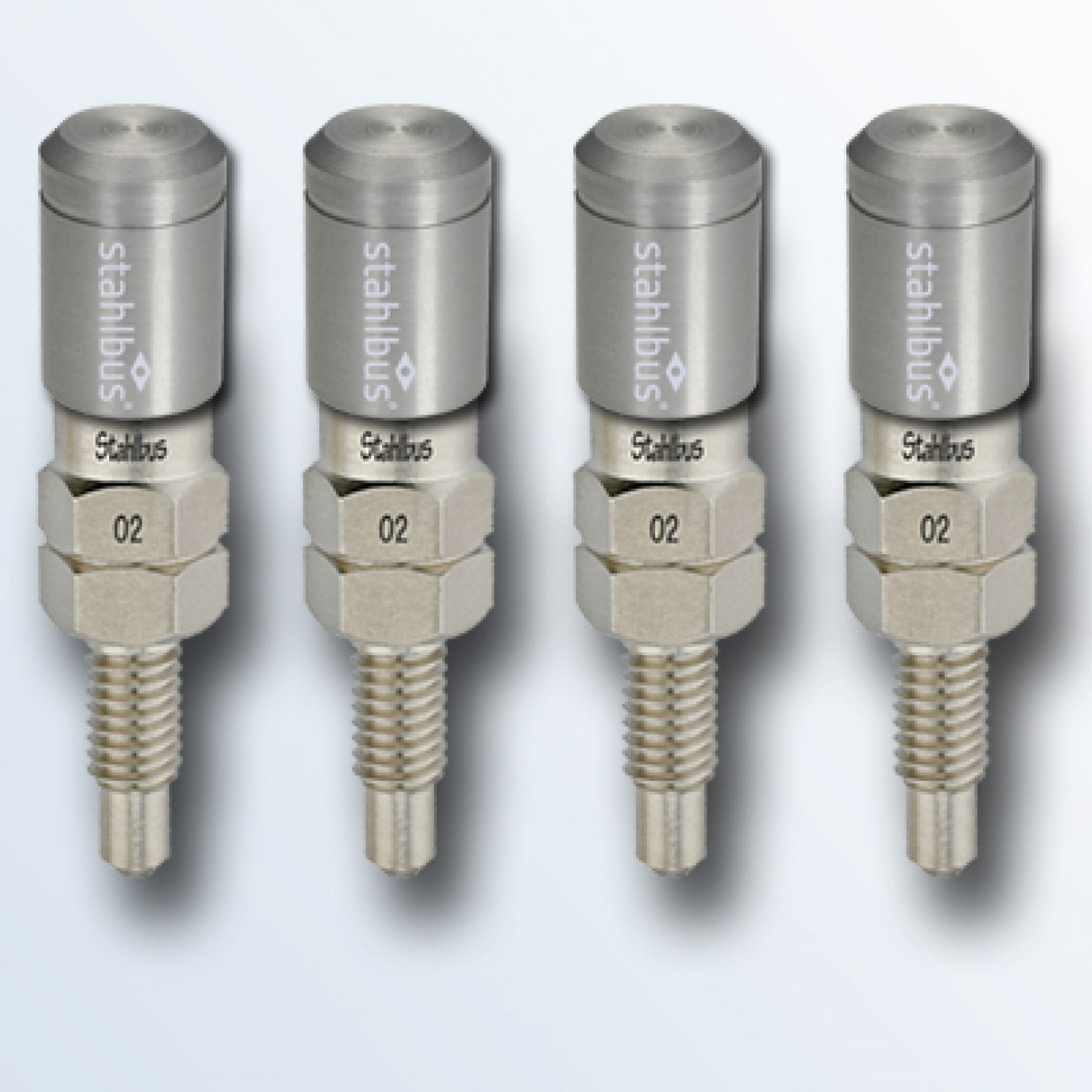 4-piece set stahlbus Bleeder valve M6x1.0x16mm, steel with natural coloured dust cap
