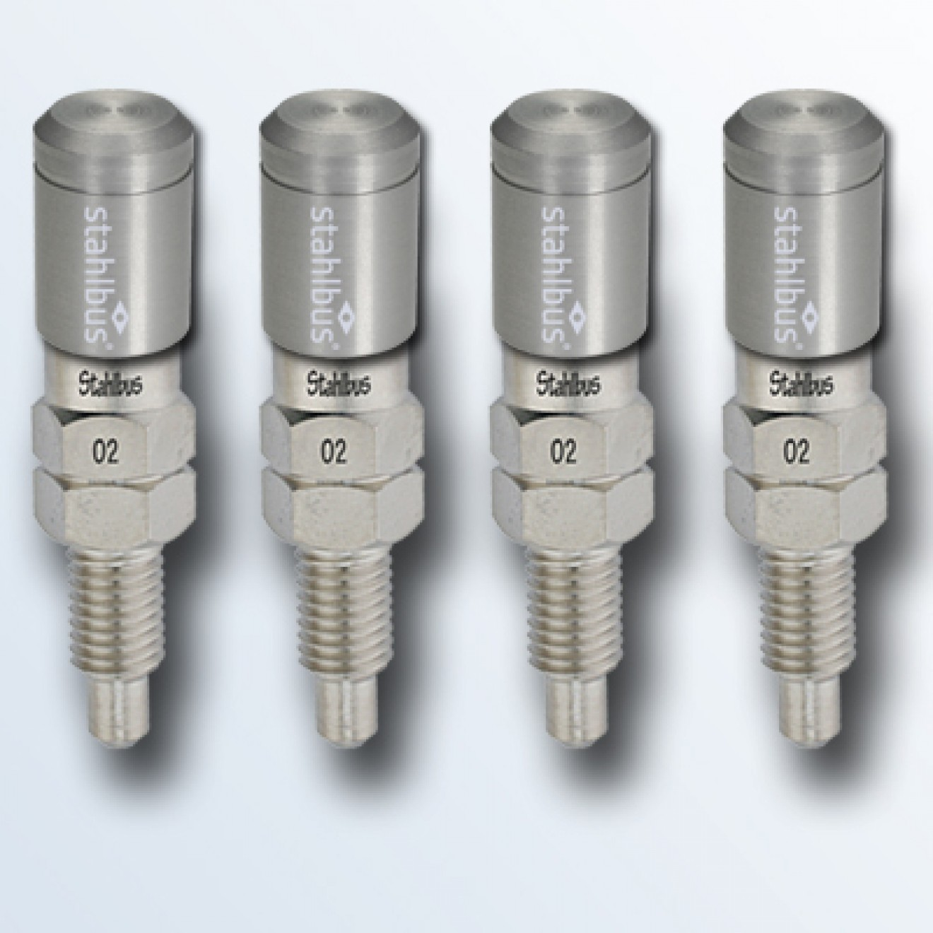 4-piece set stahlbus Bleeder valve M7x1.0x16mm, steel with natural coloured dust cap