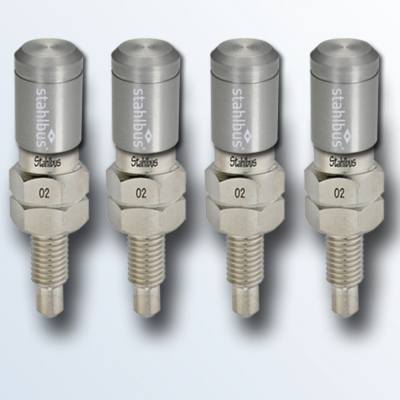 4-piece set stahlbus Bleeder valve 1/4 inches-28UNFx16mm, steel with natural dust cap