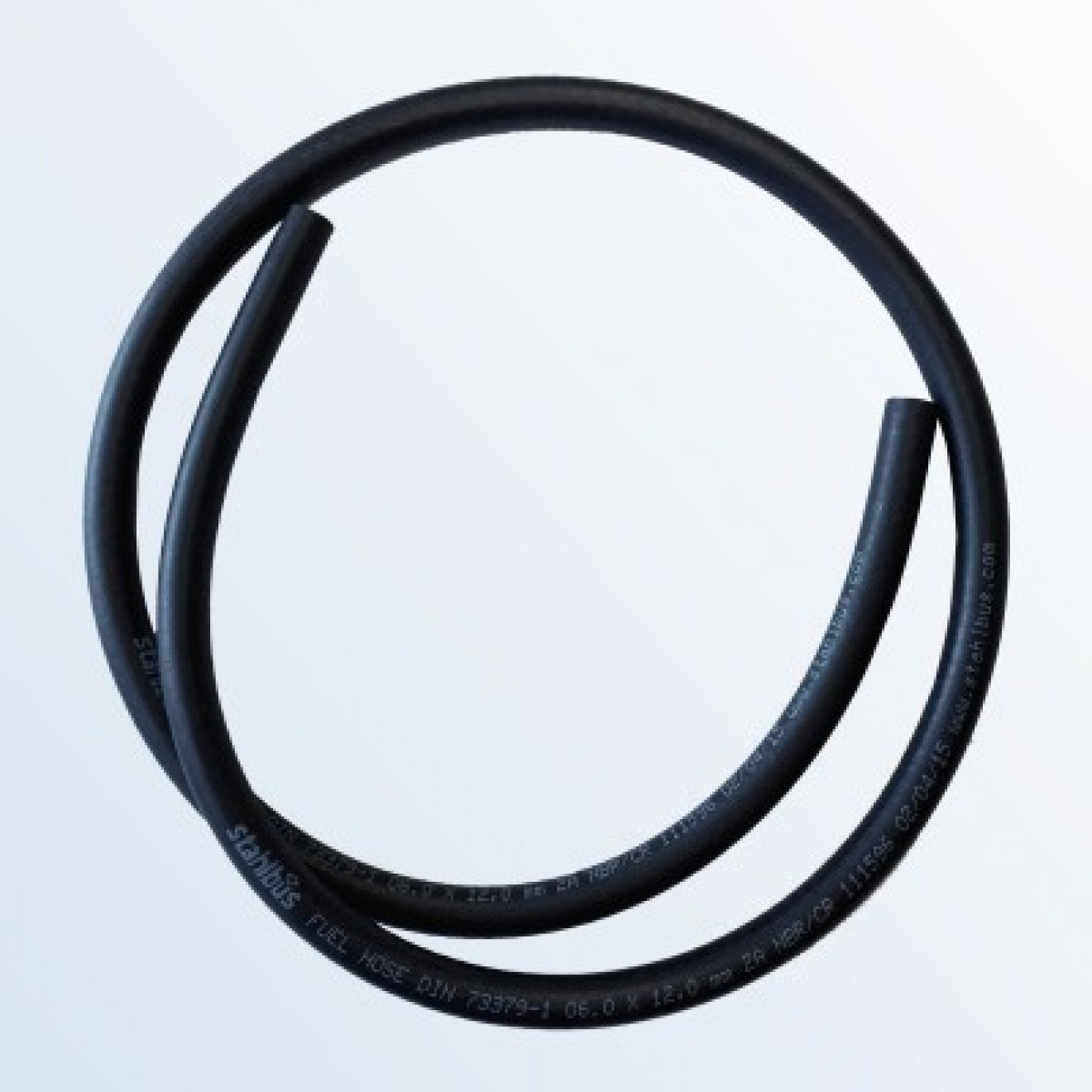Fuel hose NBR/CR Ø 6 (0.236 inch) x 12mm (0.472 inch), Lenght 1m (39.37 inch)