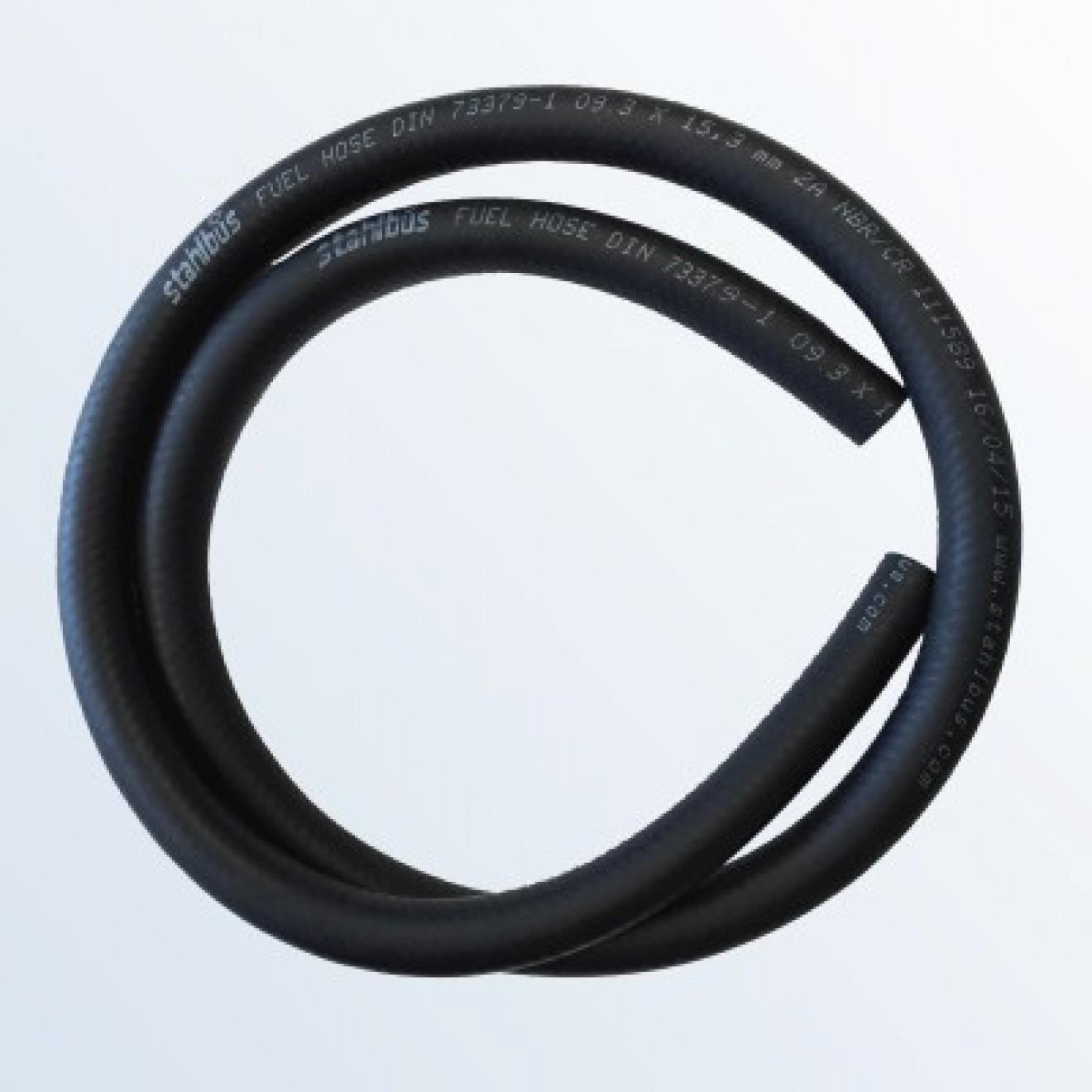 Fabric fuel hose NBR / CR Ø 9,3 x 15,34 mm, length 1m