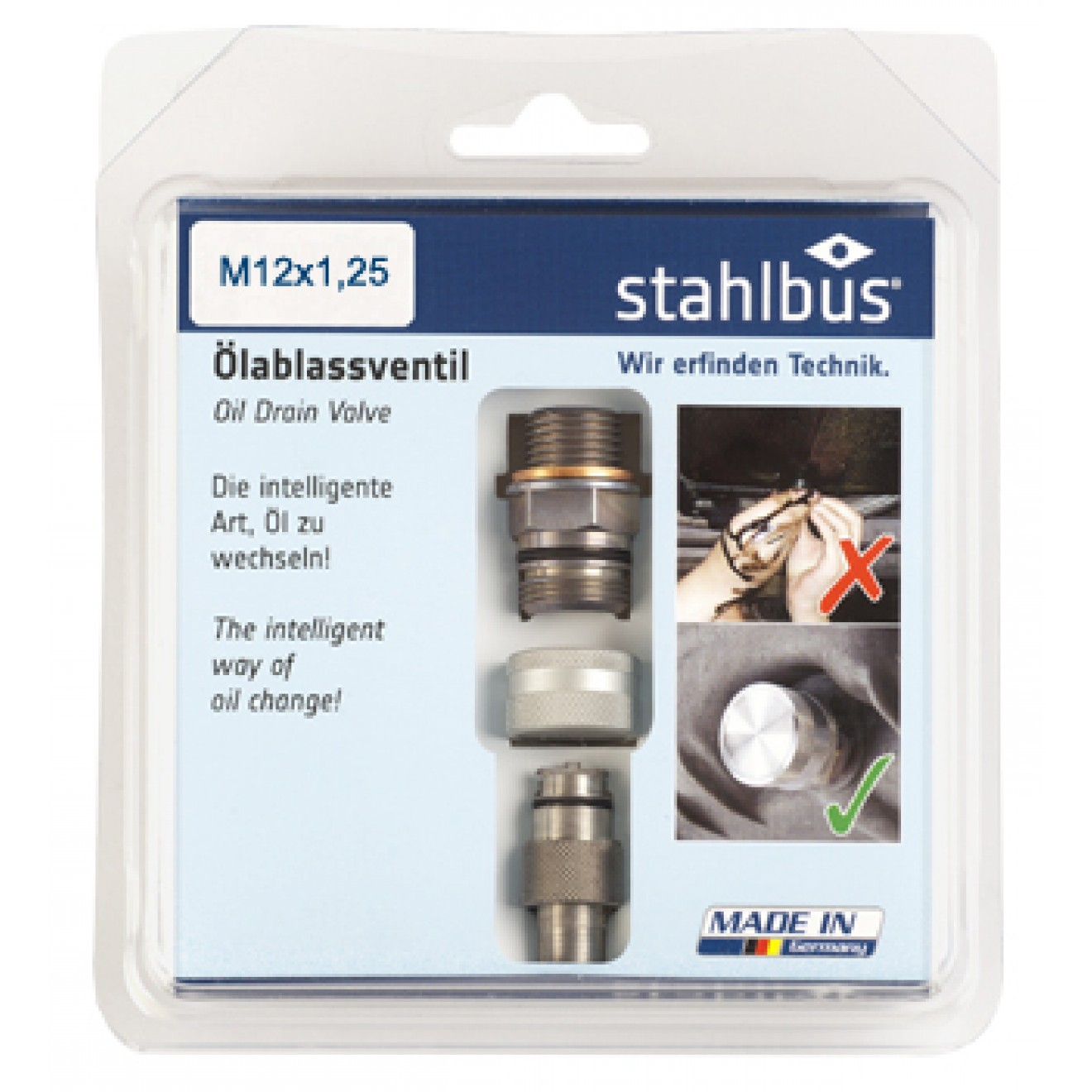 stahlbus Oil Drain Valve M12x1.25x12mm, steel (set)